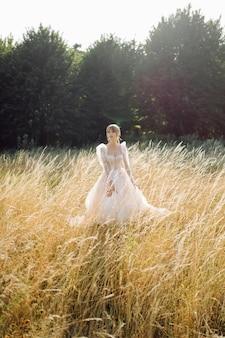 Braut in der natur