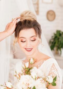 Braut macht sich bereit