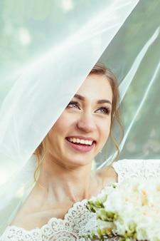 Braut unter schleier