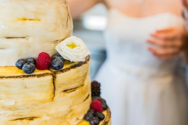 Brautkuchen am hochzeitstag
