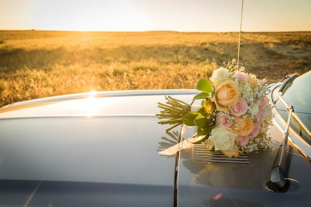 Brautstrauß der tag der hochzeit