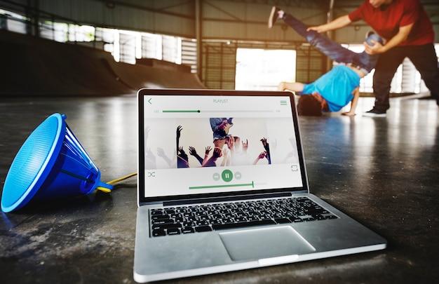 Breakdance hiphop dance skill streetdance-konzept