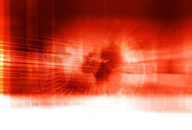Breaking hot news hintergrund roter themenhintergrund mit weltkarte und verbindungslinien