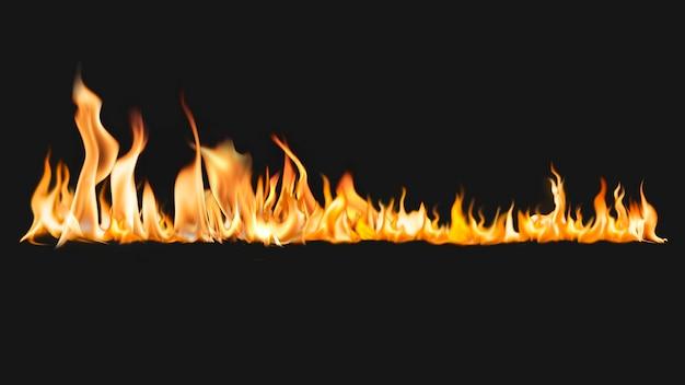 Brennende flamme desktop-hintergrund, realistisches feuerbild
