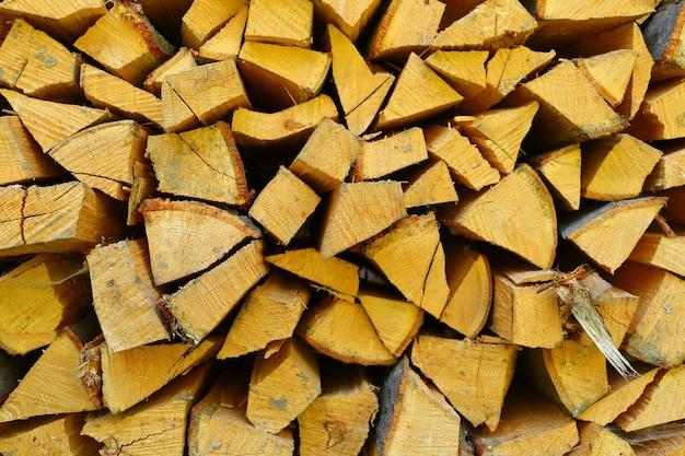 Brennholz für die feuernahaufnahme