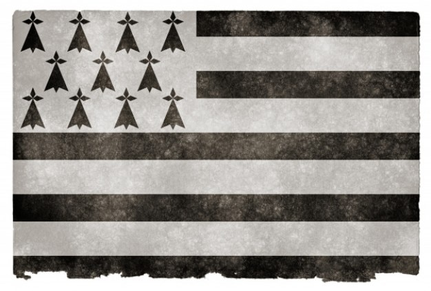 Bretagne grunge flag