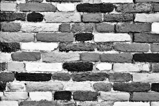 Brick textur schwarz-weiß