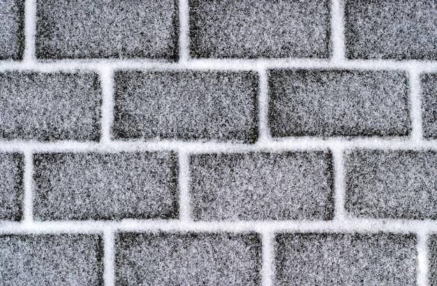 Brickroad mit schnee