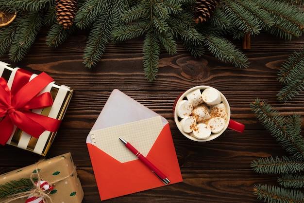 Brief an den weihnachtsmann mit weihnachtswünschen