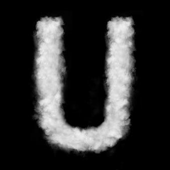 Brief aus den natürlichen wolken auf schwarzer oberfläche isoliert