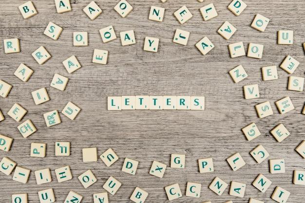 Briefe bilden die wortbriefe