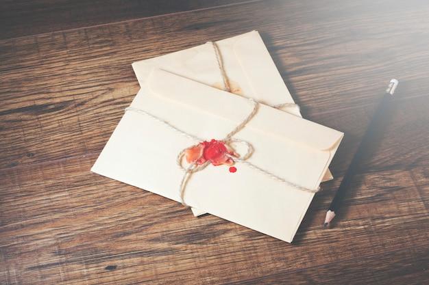Briefe und stift