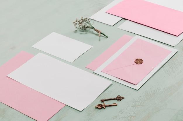 Briefpapier hochzeit konzept