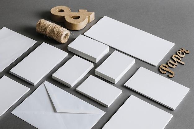 Briefpapier-konzept
