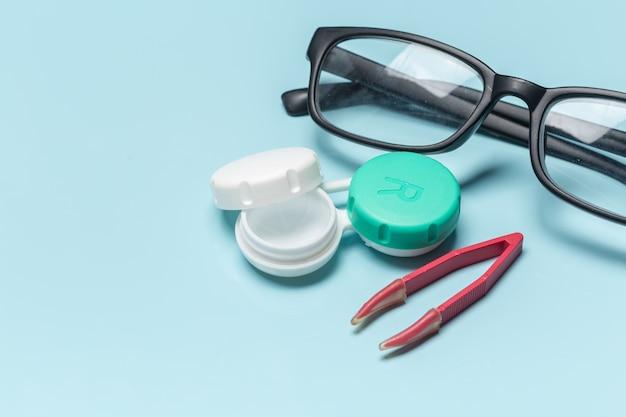 Brille, kontaktlinsen, vision-konzept