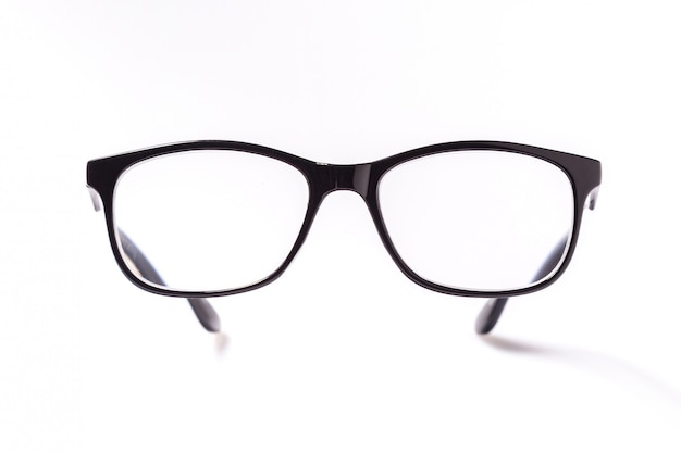 Brille mit schwarzen augen