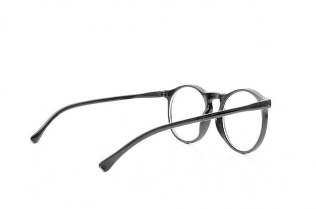 Brille schwarz auf weiß