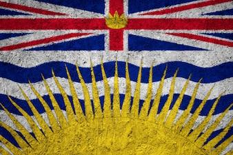 Britisch-Columbia-Flagge gemalt auf Schmutzwand