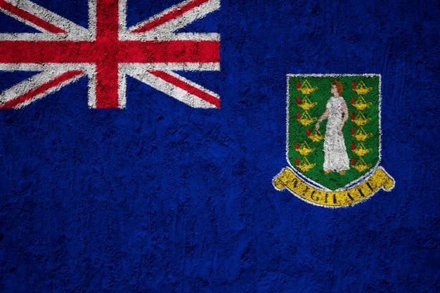 Britische jungferninseln-flagge gemalt auf schmutzwand