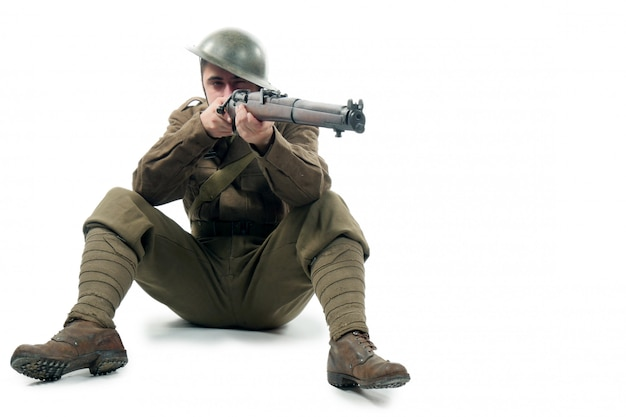 Britischer soldat des ersten weltkriegs von der somme 1916.