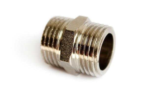 Bronzebeschichteter nippeladapter zum anschluss von wasserleitungen