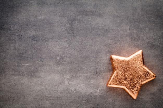 Bronzestern. weihnachtsdekoration hintergrund