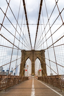 Brooklyn bridge, niemand, new york city usa