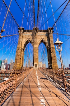 Brooklyn bridge und manhattan new york city us