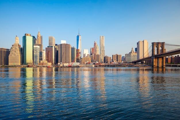 Brooklyn bridge und manhattan, new york city