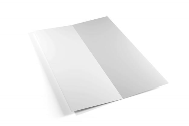 Broschüre auf einem weißen hintergrund, wiedergabe 3d
