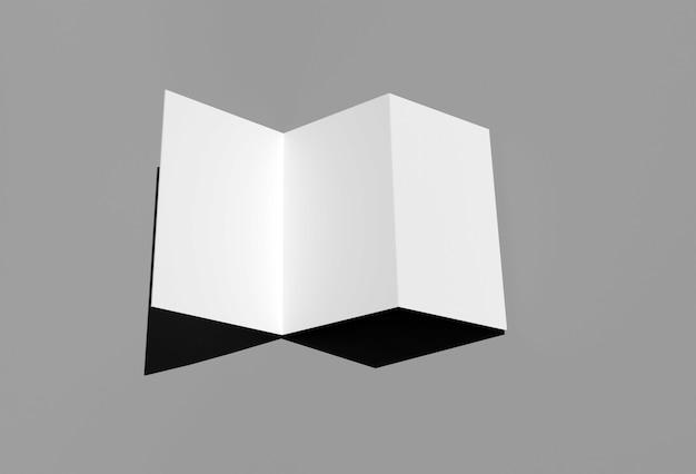 Broschüre weiß sauber