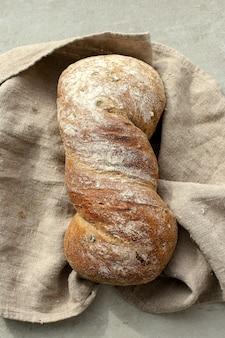 Brot auf einem tuch