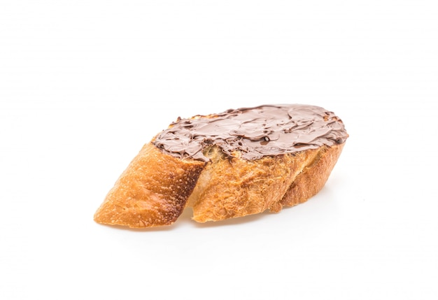 Brot mit schokolade haselnussaufstrich
