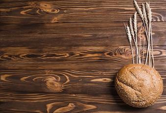 Brot und weizen mit platz links
