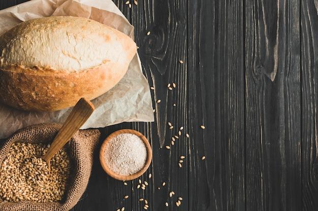 Brotlaib aus getreide