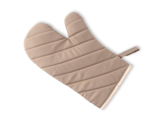 Brown cooking hitzebeständige handschuhe isoliert