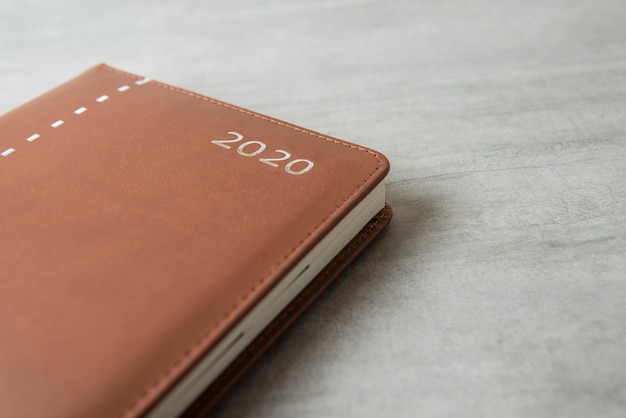 Brown cover diary