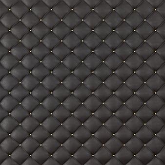 Brown leder polstersofa hintergrund. braunes luxusdekorationssofa. elegante braune leder-textur mit knöpfen für muster und hintergrund. 3d-rendering