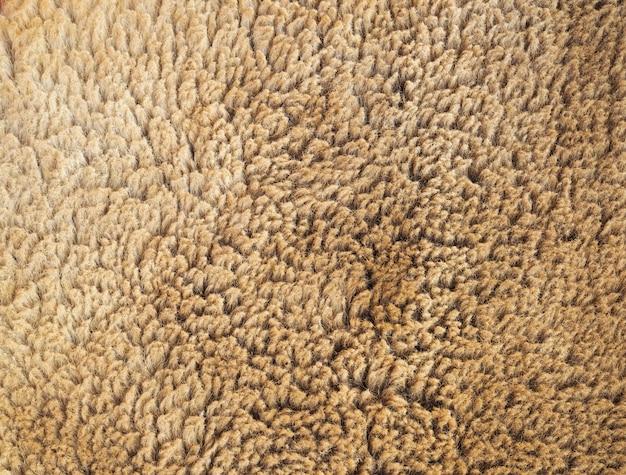 Brown-vliespelz-musterbeschaffenheit für hintergrund