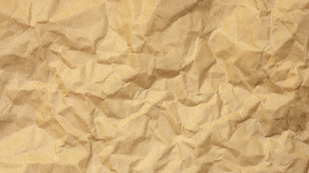 Brown zerknitterte papier für eine hintergrundbeschaffenheit.