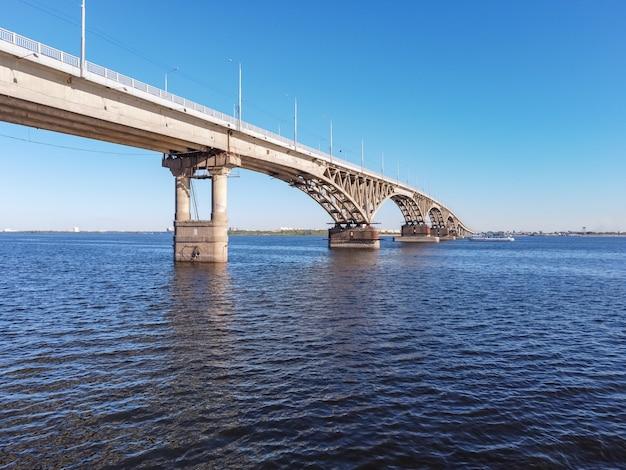 Brücke über die wolga, saratow-brücke