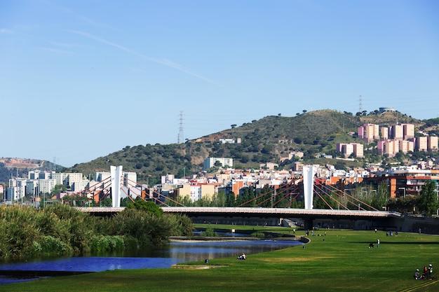 Brücke von santa coloma über besos in barcelona