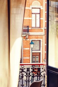 Brüsseler architektur aus der sicht eines hotels