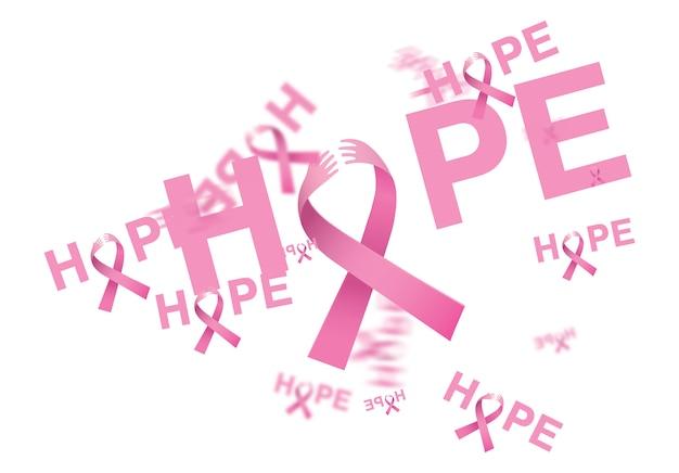 Brustkrebs-bewusstseinsbänder auf weißem hintergrund