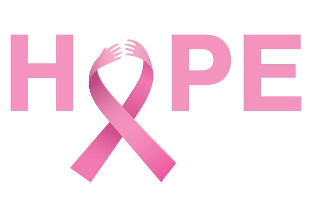 Brustkrebs-bewusstseinsbotschaft der hoffnung