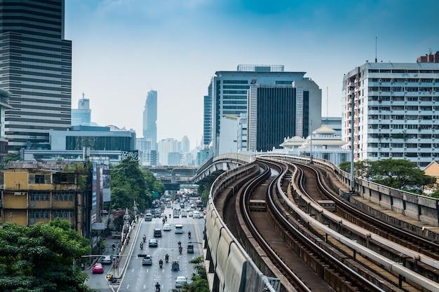 Bts skytrain bahngleise, bangkok