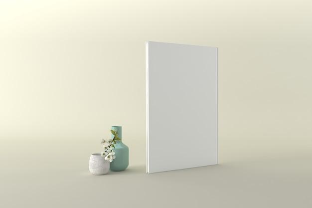 Buchcover mockup 3d rendering illustration