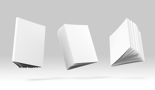Buchcover-set mockup 3d-darstellung