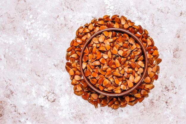 Buche nüsse, draufsicht