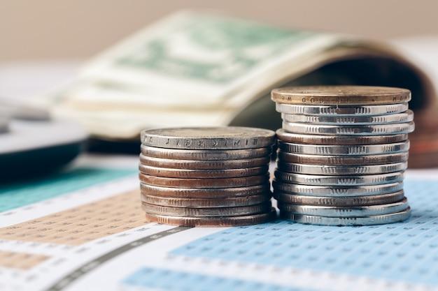 Buchhaltung im büro. business-finanz- und rechnungswesen-konzept